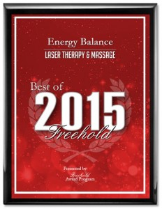 Laser Therapy Massage Award in Freehold, New Jersey