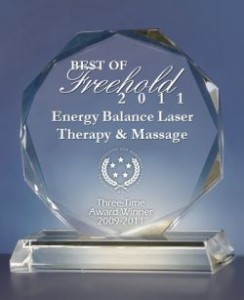 Freehold Laser Therapy Massage Award