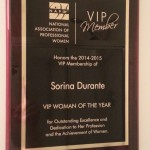 Outstanding Excellence - Woman of the Year Award